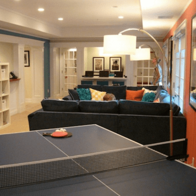 Family basement makeover