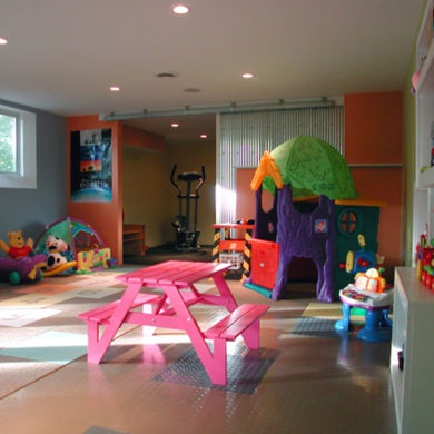 Kids room basement makeover