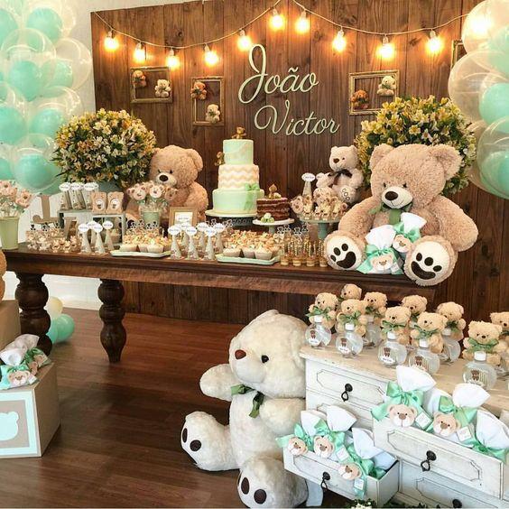 10 temas de decoraç u00e3o de chá de beb u00ea menino u2013 EuNeném Blog # Decoração Cha De Bebe Tema Urso