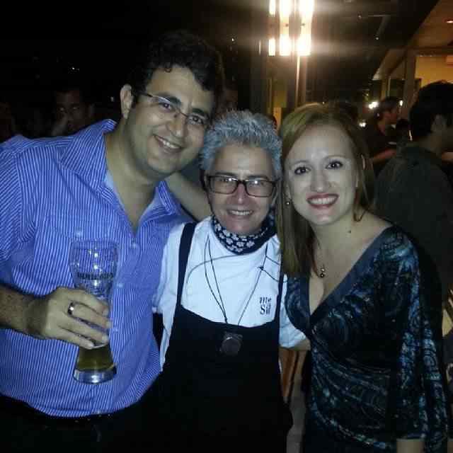 Eu e a Vivian com a Chef Ana Soares, que é gente boa pra caramba.