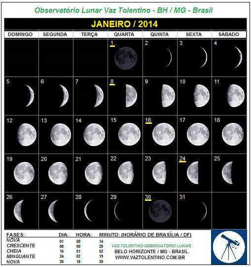 Calendário JAN-2014