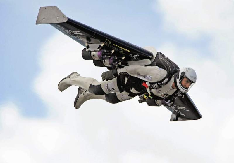 Swiss professional pilot Yves Rossy, the