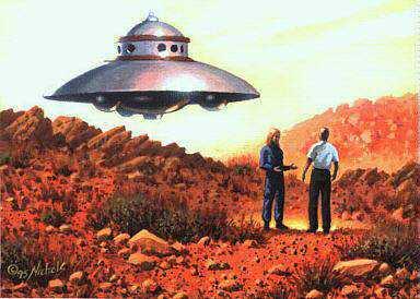 Adamski conta que se encontrou com aliens no deserto e viajou em suas naves