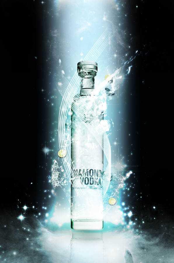 """E que tal esta vodka com preço de imóvel que dizem ser """"filtrada em diamantes""""? Rá!"""