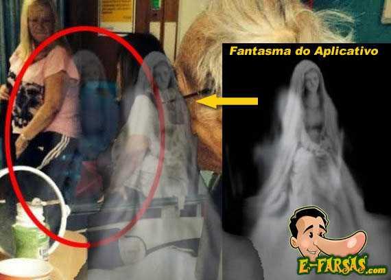 Veja a comparação da foto com o fantasma do aplicativo feita pelo E-farsas