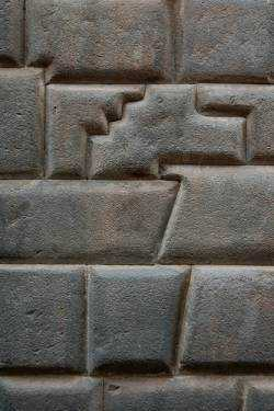 Parte de uma parede em Cuzco, não muito longe do Coricancha. 9 Uma das pedras tem 14 ângulos