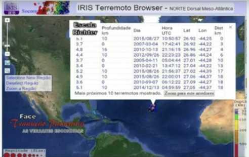 terremotos ponto