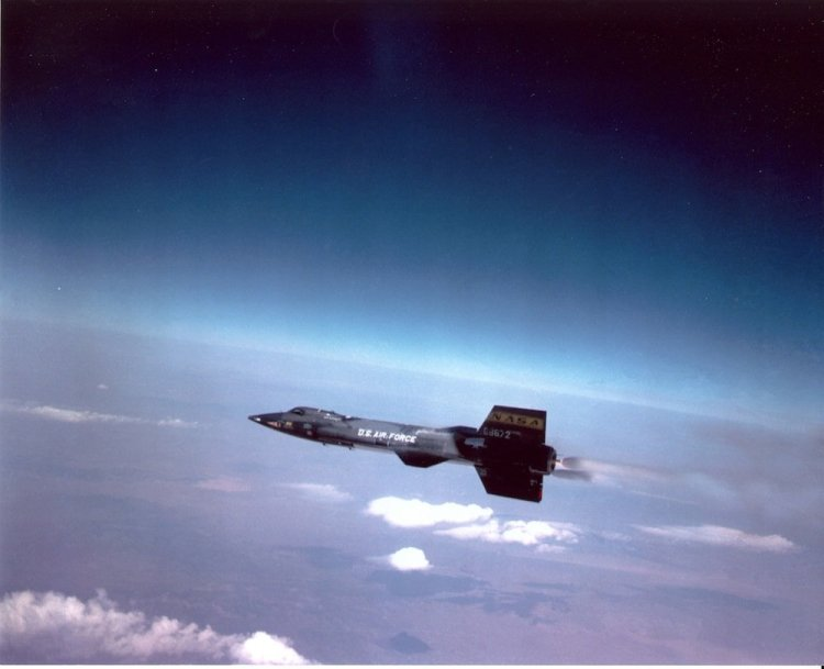 The X-15 in flight. (Courtesy photo)