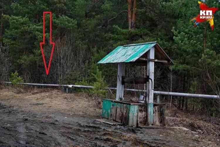 A seta mostra o local onde Alexis foi encontrado