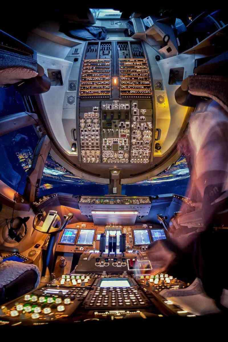An amazing view of the cockpit as its lighted. (Photo by Christiaan van Heijst/Daan Krans/Caters News Agency)