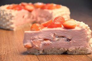 Receita da revista da Catia: Torta cremosa de morango