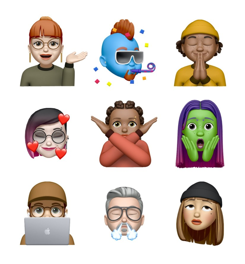 Memoji stickers iOS 13.4.