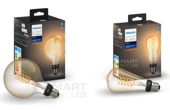 Philips Hue Giant Filament lamps.