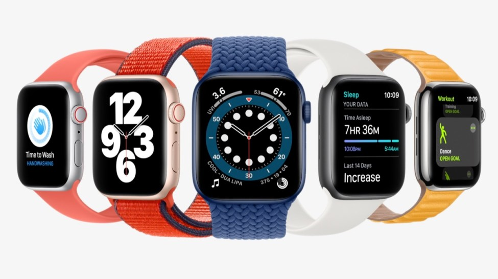 Apple Watch Series 6 with watchOS 7 features