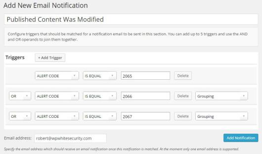 Setting up email notifications.