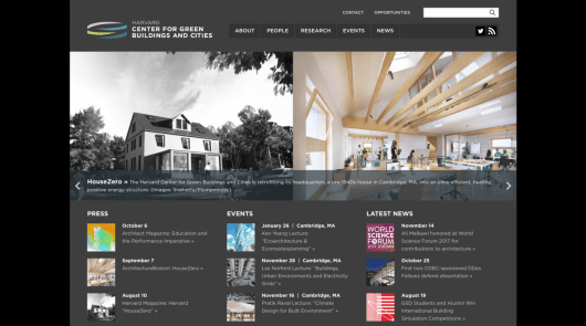 The Harvard Center for Green Buildings and Cities website.