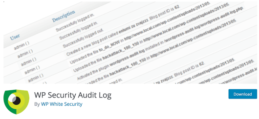 The WP Security Audit Log plugin.
