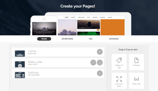 The appful Pages tab.