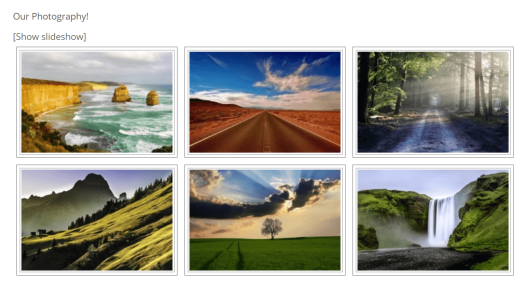 An example of a NextGEN image gallery.