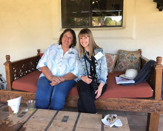Seminar speaker Cindy Reich, left, and Arabian Horse World Editorial Assistant, Rachel Varner.