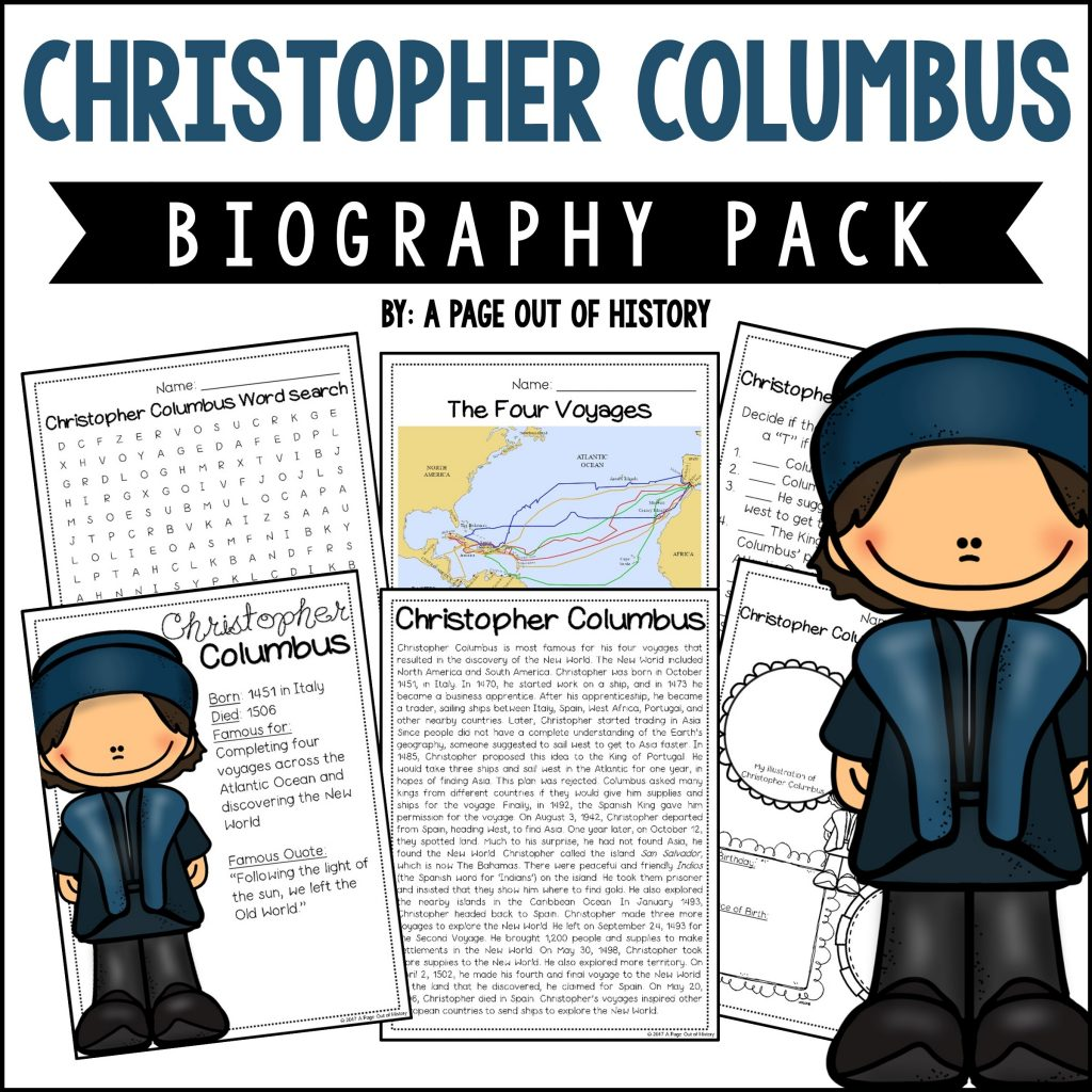 Christopher Columbus Biography Pack New World Explorers