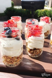 This Strawberry Pretzel Parfait is the perfect summertime dessert recipe. The crunchy pretzels, creamy mousse, and sweetened berries are sure to delight!