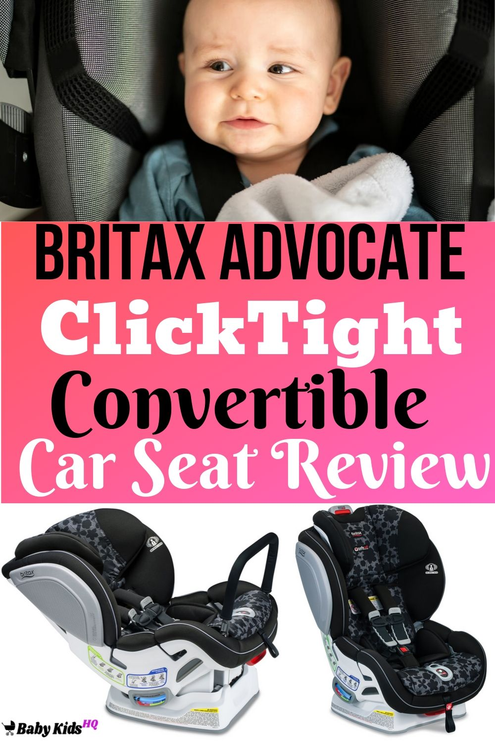 Britax has taken safety beyond the federal standards with the Britax Advocate ClickTight convertible car seat. This does the job of both what an infant and toddler car seat would do.With the advanced safety features and body insert you don't need to worry about whether this car seat will be too big for a small baby.