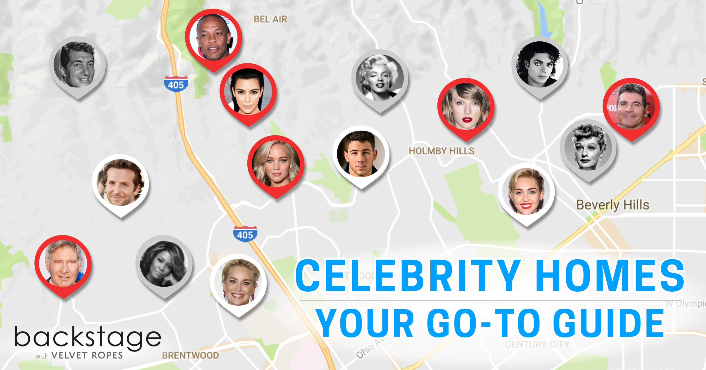Celebrity Homes Map This Is Everything You Need To Know