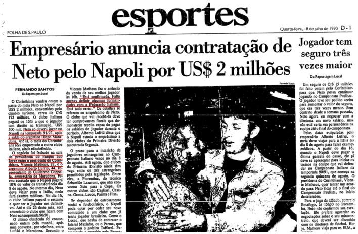 Corinthians_Neto no Napoli