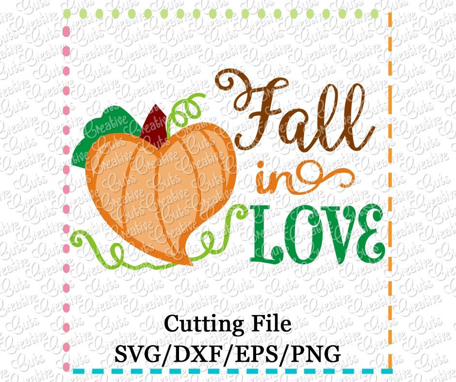Download Fall in Love SVG DXF EPS - Creative Appliques
