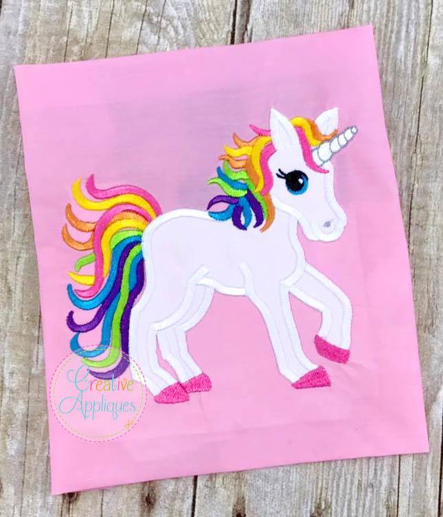 Rainbow Unicorn Applique Creative Appliques