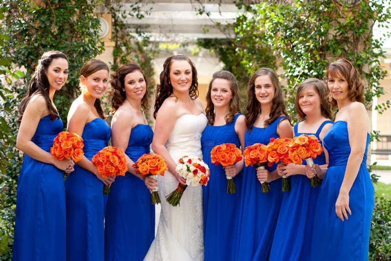 Elegant Orange Amp Blue Wedding Every Last Detail