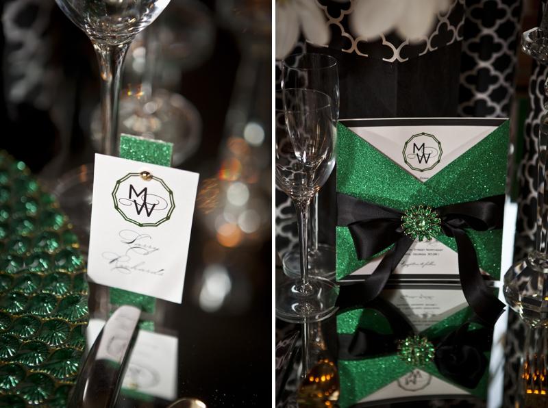 Modern Amp Glamorous Emerald Green Wedding Inspiration