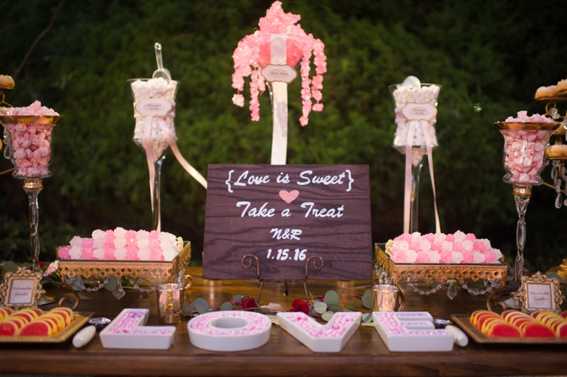 Elegant Pink & Red Wine Themed Wedding