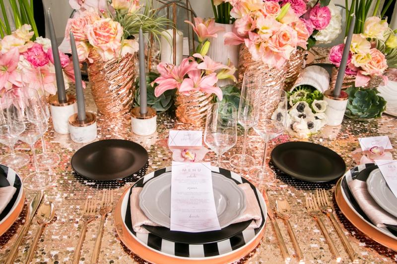 Modern Glam Black & Rose Gold Wedding Ideas | Every Last ...