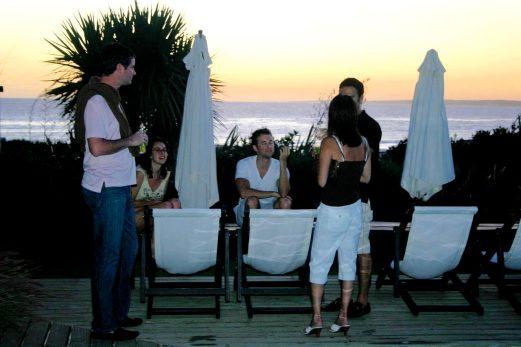 Posada del Faro sunset cocktails