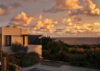 Posada del Faro sunset terrace view