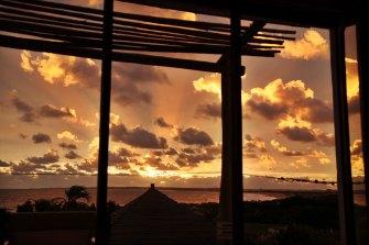 Posada del Faro sunset from room
