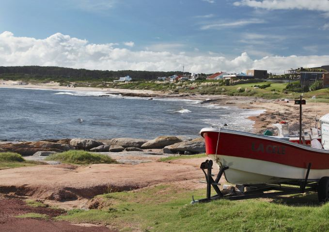 Jose Ignacio boat and beach