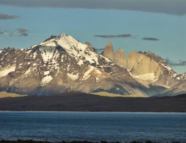 Tierra Patagonia sunrise mountain view