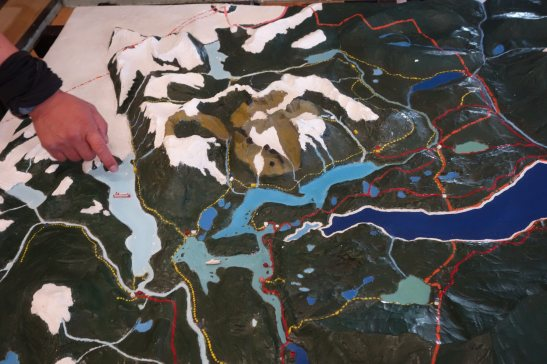 Torres del Paine Grey's Glacier map