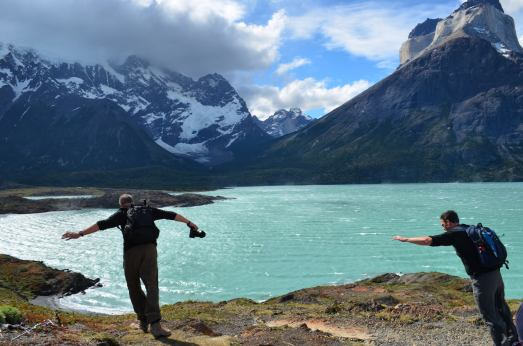 Torres del Paine National Park wind leaning