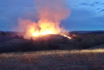 FLAMES IN THE FLINT HILLS