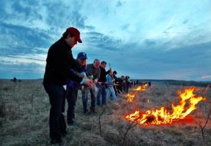 Flying W Ranch fire lighting