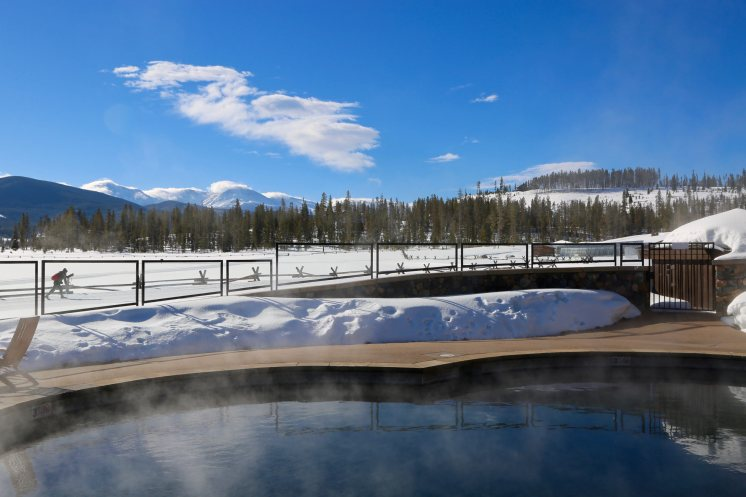 Devil's Thumb Ranch pool in winter