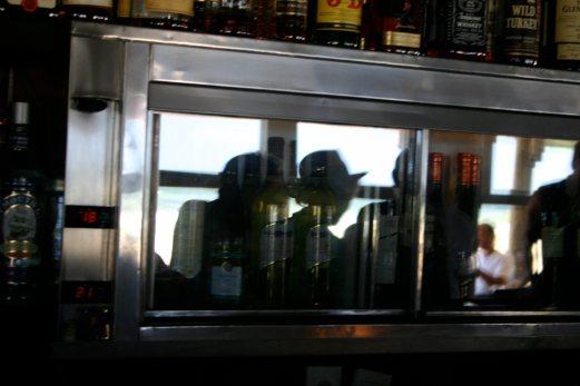 La Huella bar reflections