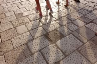 Love these marble stones all over Croatia. Love to walk on them, would hate to have to make 'em.