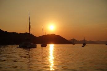 Sipan harbor sunset