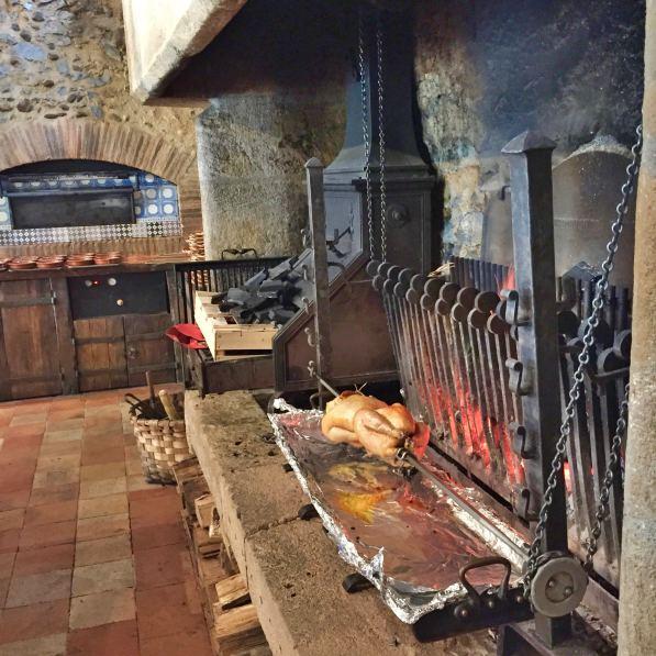 Les Pres d'Eugenie La Ferme cooking