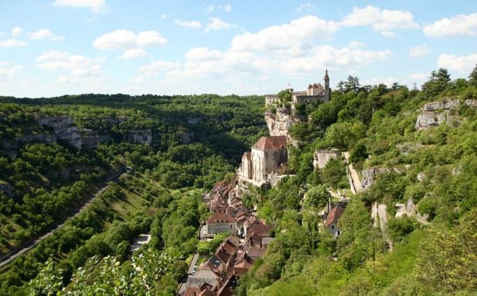 Rocamadour castle view